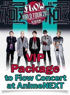 VIP Package for FLOW at AnimeNEXT